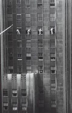 Window cleaners, NYC 1958