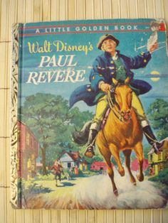 Vintage Little Golden Book Walt Disney's Paul Revere by mom2marci, $4.25