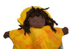 Handpop zonnige man poppenkast pop speelgoed popje door MijnPopje, €11.95