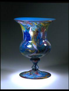 Salviati & C. (manufacturer), ca. 1868 -  Calcedonio glass in various colours and aventurine - V&A, London