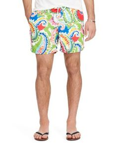 POLO RALPH LAUREN Paisley Traveler Swim Trunk. #poloralphlauren #cloth #trunk