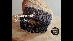 DIY Tutorial Pulsera Macrame Rombos/ Diamond Bracelet - YouTube