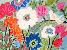 Bird Art Print Music in the Garden   Print by karenfieldsgallery, $18.00