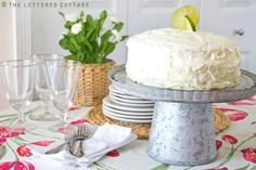 Key Lime Cake | The Lettered Cottage