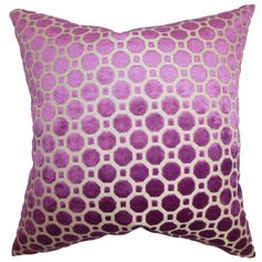 For a sleek urban look, adorn your home with this charming throw pillow. Made from high-quality velvet material, this accent pillow features a a modern geometric pattern and a down/feather blend inside.