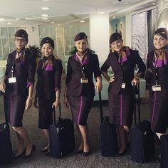 Etihad Airways stewardess crewfie @asmaa.toufik
