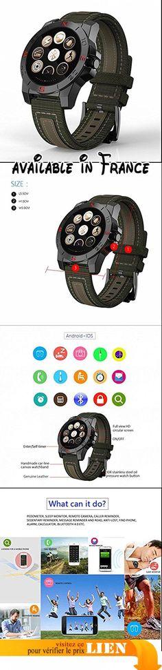 Smart Watch Surveillance de la fréquence cardiaque, altimètre/ Trouver votre téléphone Compatible avec tous les téléphones Android, iPhone. Ce tracker vous indique la date et l'heure que le nombre quotidien d'étapes et en fonction du nombre de pas la distance et les calories brûlées, la fréquence cardiaque, votre horaire de sommeil et Smart Notifications (par exemple, SMS, notifications de médias sociaux et les appels entrants). un réveil, ainsi qu'un rappel si