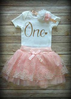 1er cumpleaños niña traje personalizar primer por GraceCreationz