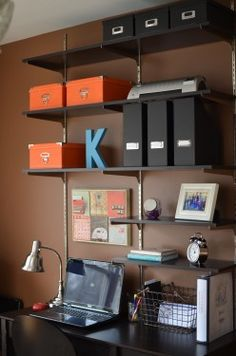 Great idea for home office AND explanation on when DIY is a bad idea :) www.homemakerschallenge.com