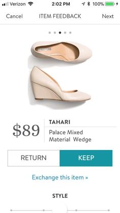18effaf0a95c I like the color of these wedges   they are neutral and can be worn for