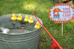 Duck Pond Game for circus/carnival themed party Carnival Game Signs, Carnival Party Games, Carnival Ideas, Farm Party Games, Kids Carnival, Circus Birthday, 3rd Birthday Parties, Boy Birthday, Toddler Birthday Party Games