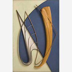1958 - Domela, César - Relief #59 - Soft steel, citruswood, messing