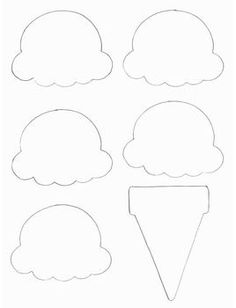 Food Crafts - Print your Ice Cream Cone Template at AllKidsNetwork. Ice Cream Theme, Ice Cream Party, Ice Cream Scoop, Cone Template, Ice Cream Template, Applique Templates, Cupcake Template, Printable Party, Templates Printable Free