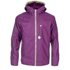 Paul Smith Jackets - Purple Hooded Cagoule Jacket