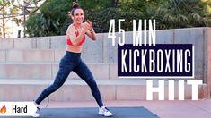 "HIGH INTENSITY CARDIO KICKBOXING HIIT MUSIC Workout | 🔥BURN 550 CALORIES! | ""Fun & SUPER Sweaty"" - YouTube Cardio Boxing, Kickboxing Workout, High Intensity Cardio, Workout Videos, Workouts, Workout Challenge, Hiit, Good Music, Martial Arts"