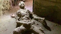 """July 9, 2017 - The cyber world is all hot and bothered this week with the emergence of a photograph that seems to show a Pompeii man frozen in time while masturbating. The unidentified man, an unfortunate victim of the eruption of Mount Vesuvius in 79 CE, has gained the grudging respect of twitter users who wryly noted that he """"held on to the end"""" and died """"holding his loved ones."""""""