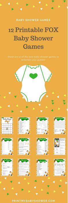 printable baby shower games | printable baby shower games for boys | printable baby shower games templates | fox baby shower theme |fox baby shower ideas