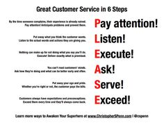 6 steps to great customer service #customerservice