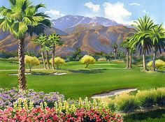 Mary Helmreich - Palm Springs Golf Course with Mt San Jacinto