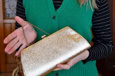 EASTER SALE 60s Solid Gold Clutch by greatgrandmaagnes on Etsy, $12.60