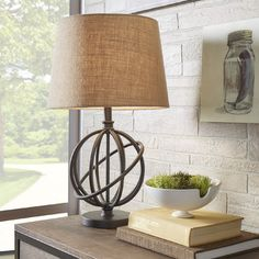"You'll love the Oliver Metal Orbit Globe 26"" H Table Lamp with Empire Shade at Wayfair - Great Deals on all Lighting  products with Free Shipping on most stuff, even the big stuff."