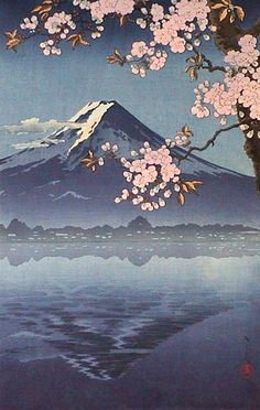 "Japanese Art Print ""Lake Kawaguchi"" by Tsuchiya Koitsu. Shin Hanga and Art… Japanese Drawing, Japanese Artwork, Japanese Painting, Japanese Prints, Japan Wallpaper, Wallpaper Travel, Image Japon, Japon Illustration, Travel Illustration"