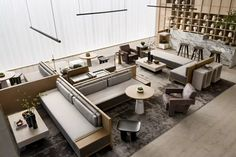 Lobby Lounge, Sales Office, Contemporary Style, Modern, Interior Design Living Room, Table, Furniture, Home Decor, Goat