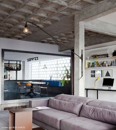 modern home + concrete ceiling #decor #concreto #industrial #urbandestroyed