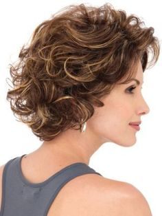 Curly Medium Layered Hairstyle 2