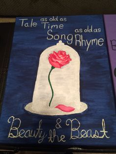 Beauty and the Beast canvas Rose