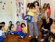 La animadora infantil Adriana visitó junto a la ministra de Desarrollo Social, Carolina Stanley, el Centro de Primera Infancia (CPI) San Francisco de Asís,