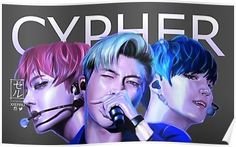 CYPHER artwork BTS RAPLINE by xxerru Poster