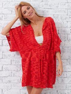 Beach Cover-Up | Yarn | Free Knitting Patterns | Crochet Patterns | Yarnspirations