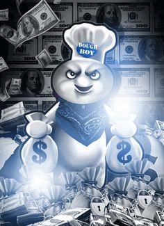 Pillsbury Dough Boy Gangster
