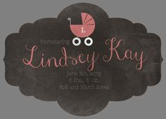 Alexis Design Gallery: Chalkboard Baby Announcement