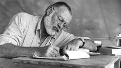Pinterest Pin - Celebrating the birthday of Ernest Hemingway, American author and journalist who turned his life experiences into great works of literature.