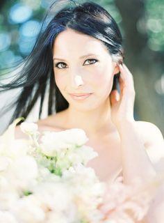 Wedding Hairstyle ~ Natural sleek hair & neutral makeup