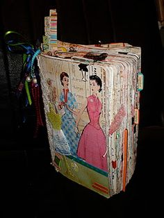 Original pinner sez: junk journal smash book. So many old patterns and craft books from my gram that I could use for this one!!