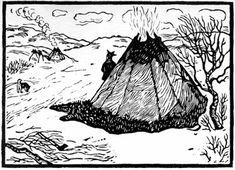 Lappland, Woodblock Print, Printmaking, Folk Art, Screen Printing, Medieval, Moose Art, Arctic, Black And White