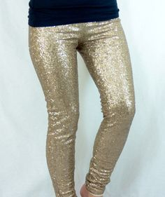 Sequin Leggings: Beige Love these! #privityboutique