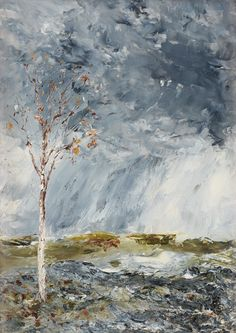 """oldpaintings: """"The Birch Tree I (Autumn), 1902 by August Strindberg (Swedish, 1849–1912) """""""
