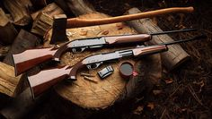 Remington 7400 and 7600 (semi-auto and pump action) rifles.  Great deer rifles.