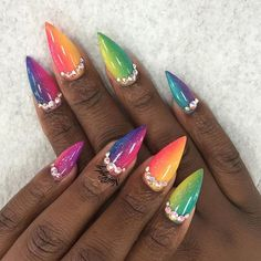 nailsbyly neon gradient nails
