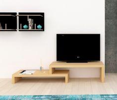 Cliff, Modern, Extending TemaHome TV Unit  in Oak Veneer Finish #diningroom #livingroom #homedecor #interiordesign #temahome #interiors #home #furnituremind