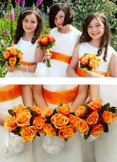 Wedding, Flowers, Orange