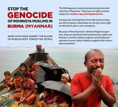stand up for the Rohingya people in burma!
