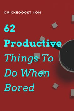 Looking for productive things to do when bored at home? This is what you need! Use these tips, tactics, and ideas to end your boredom, get stuff done, and have a productive day! #productive #productivity #productivethingstodo Productive Things To Do, Things To Do When Bored, Things To Do At Home, Productive Day, Getting Things Done, Bored At Home, Productivity Hacks, Time Management Tips, Stay Focused