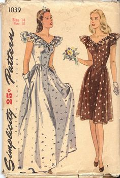 Simplicity 1039 Sewing Pattern 1930's Misses' by FashionsLook