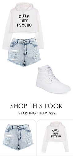 """Untitled #421"" by thenerdyfairy on Polyvore featuring Boohoo and Vans"