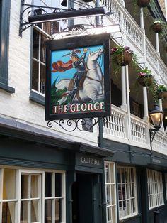 The George Inn, Borough High Street, SE1 - London, England.  London's oldest pub.  Dates back to the 1600-1700's.